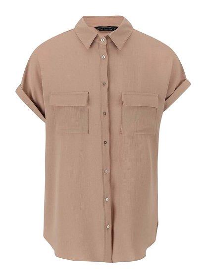 Béžová košeľa s krátkymi rukávmi Dorothy Perkins