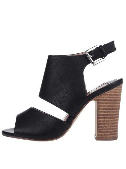 Černé sandály na podpatku Dorothy Perkins
