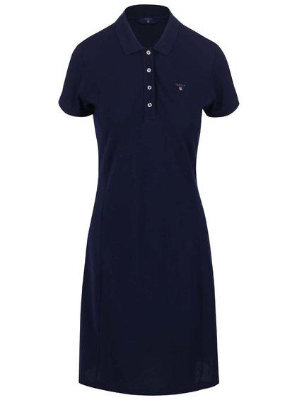 Tmavě modré šaty v polo stylu GANT