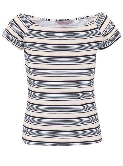 Bielo-modré pruhované tričko Dorothy Perkins Petite