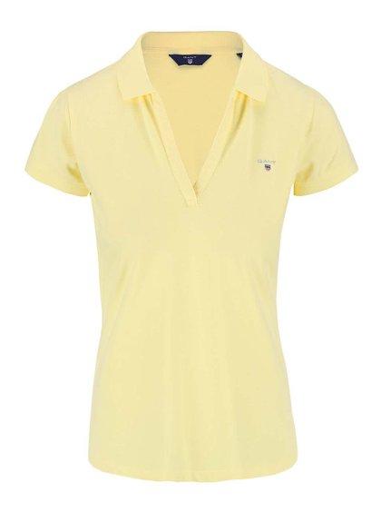 Žluté dámské polo tričko GANT