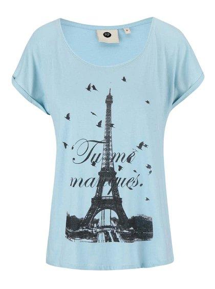 Modré tričko s motivem Eiffelovky PEP Birta