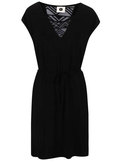 Čierne šaty na zaväzovanie PEP Blanka 2
