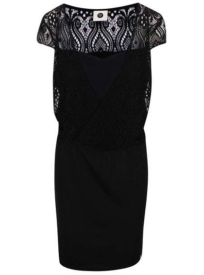 Černé šaty s transparentním topem PEP Bibbi