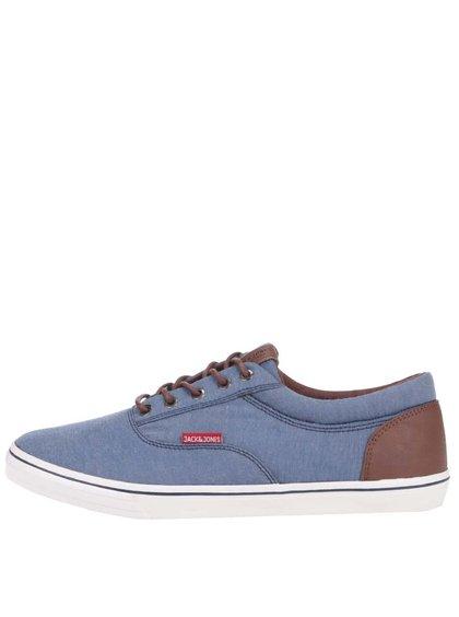 Modré tenisky s hnedými detailmi Jack & Jones Vision