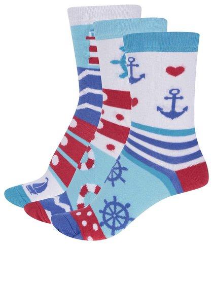 Sada tří námořnických dámských ponožek Oddsocks Isla