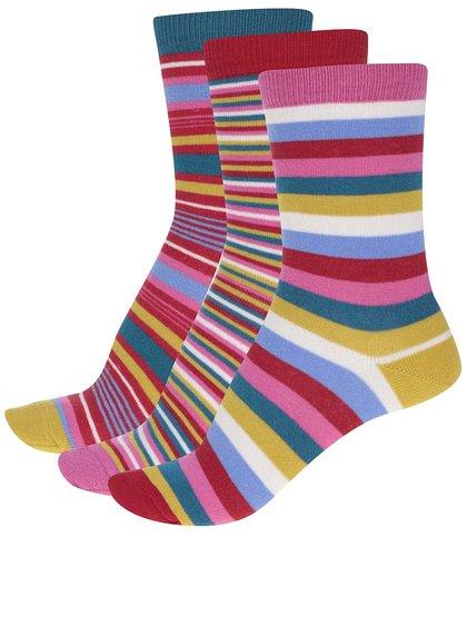 Sada tří dámských pruhovaných ponožek Oddsocks Lottie