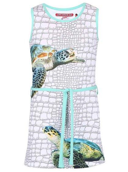 Rochie LoveStation 22 Turtle colorată, cu print