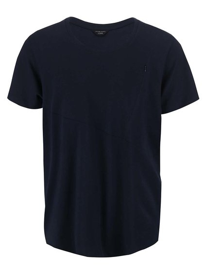 Tmavomodré tričko s vreckom Jack & Jones Align