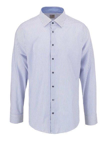 Modro-bílá pruhovaná košile Seidensticker Paul Patch Slim Fit