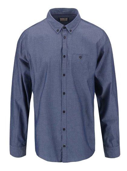 Modrá košeľa s drobným vzorom Seidensticker Bobby BD Plain Slim Fit