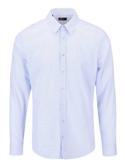 Modro-biela bodkovaná košeľa Seidensticker Kent Uno Super Slim