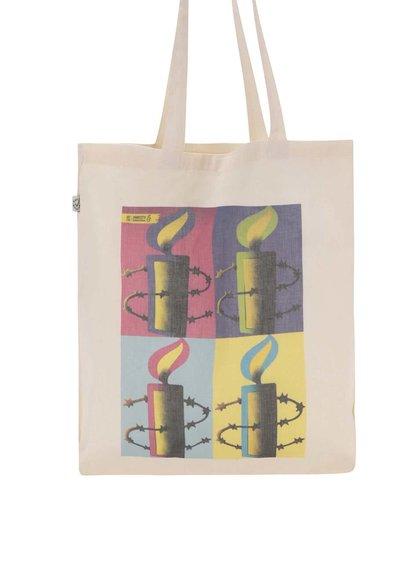 """""""Dobrá"""" plátenná taška pre Amnesty International"""