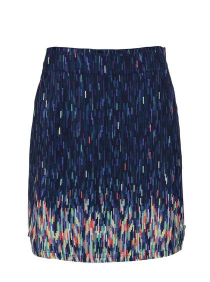 Modrá vzorovaná sukňa Skunkfunk Elosiaga