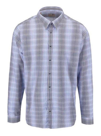 Modrá károvaná košeľa Seidensticker Modern Kent Tape Slim Fit