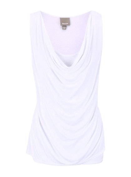 Biely dámsky top s preveseným výstrihom Bench Duple