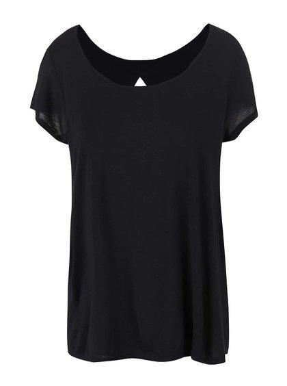 Černé dámské tričko s výstřihem na zádech Bench Observe