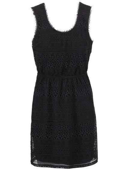 Tmavosivé čipkované šaty ONLY Addy Heaven
