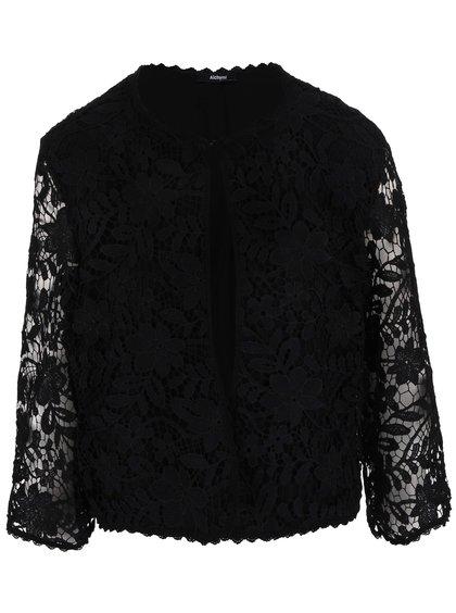 Černý dámský krajkový blejzr Alchymi Black Sapphire