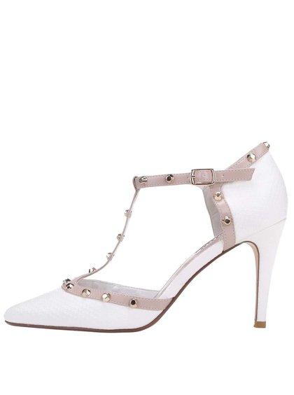 Pantofi cu toc Dune London Cliopatra decupați albi