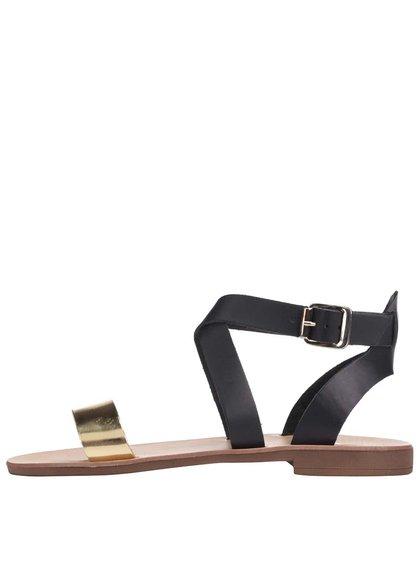 Čierne kožené sandálky Dune London Lotti