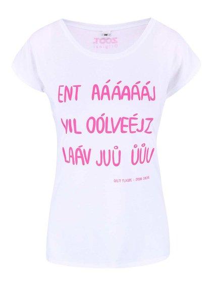 Bílé dámské tričko ZOOT Originál Drunk Singing