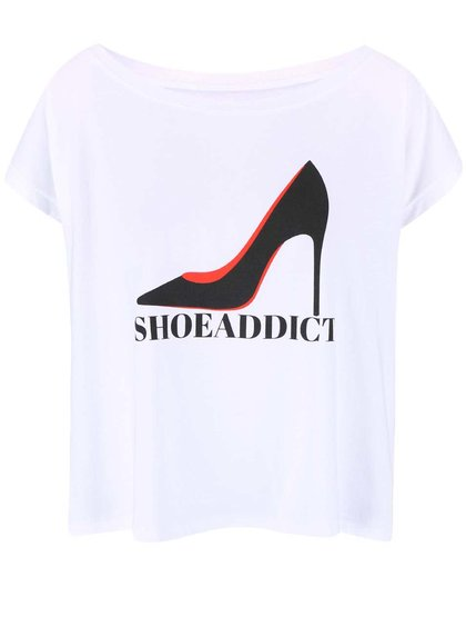 Bílé dámské volnější tričko ZOOT Originál Shoe Addict