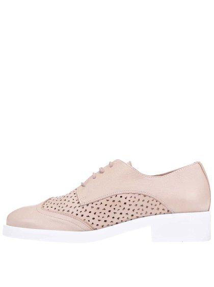 Pantofi oxford OJJU de culoare bej