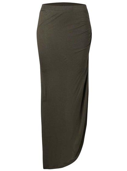 Kaki asymetrická sukňa Only New Ria