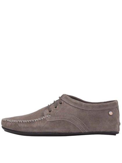 Béžové kožené topánky Frank Wright Barts