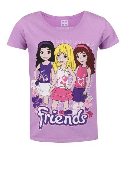 Fialové holčičí tričko s potiskem LEGO Wear Friends