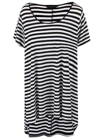 Čierne pruhované dlhšie tričko Dorothy Perkins Curve