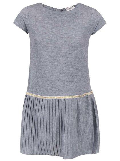 Sivé dievčenské šaty s detailom v zlatej farbe name it Gibbi