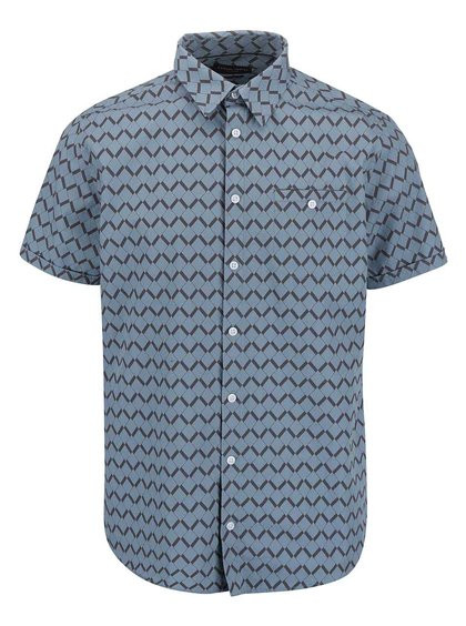 Šedomodrá vzorovaná košile s krátkým rukávem Casual Friday by Blend