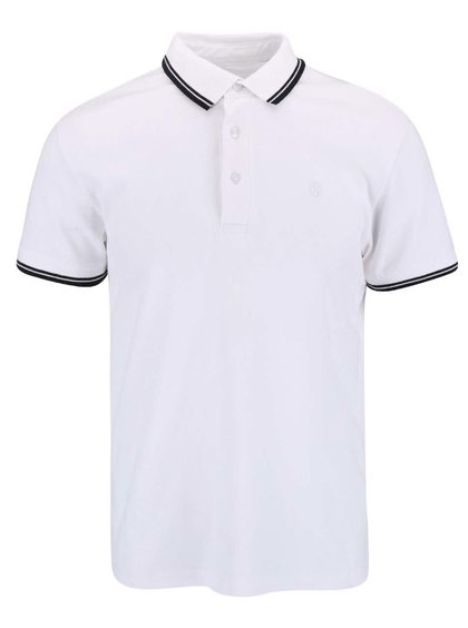 Tricou Casual Friday by Blend Polo alb