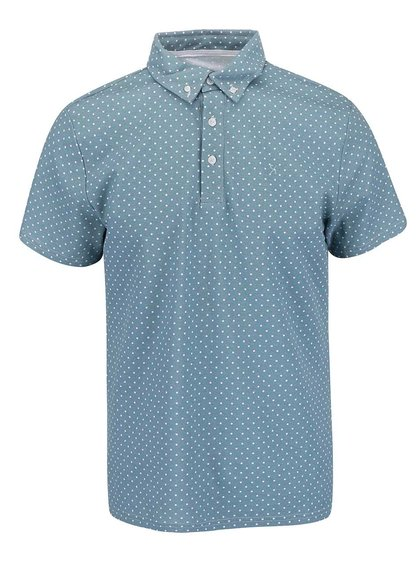 Tricou Polo Casual Friday by Blend albastru/verde