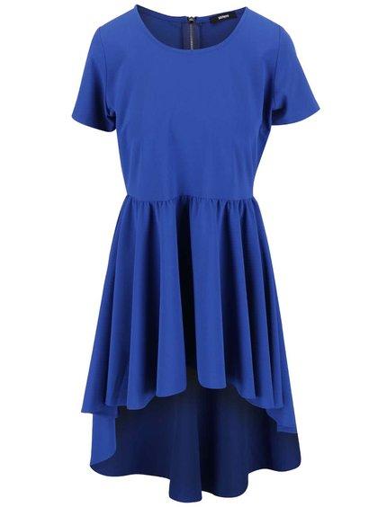 Modré šaty s dlhým zadným dielom Alchymi Polaris
