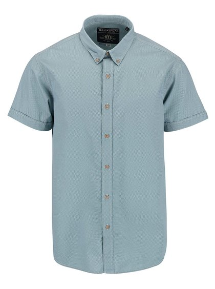 Svetlozelená pánska košeľa s krátkym rukávom Broadway Eugen