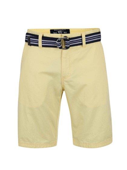 Pantaloni scurți Broadway Ivan galbeni bărbătești