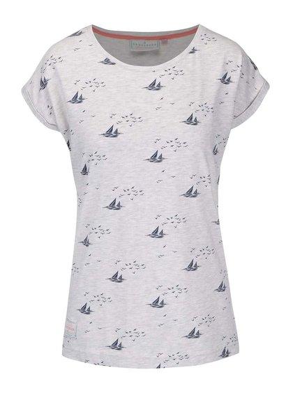 Šedé tričko s potiskem Brakeburn Boats