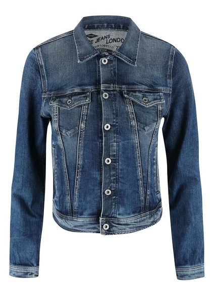 Modrá dámská džínová bunda Pepe Jeans Core