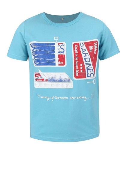 Tricou name it Vux albastru deschis pentru băieți