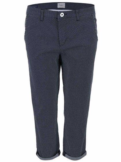 Pantaloni cu buline Pepe Jeans Nina navy
