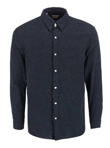 Tmavomodrá vzorovaná košeľa  Selected Homme One Luke Slim Fit