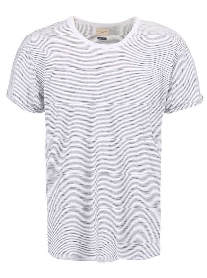 Tricou cu dungi Selected Homme Lane crem
