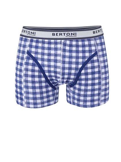 Modré kostkované boxerky Bertoni Vagn