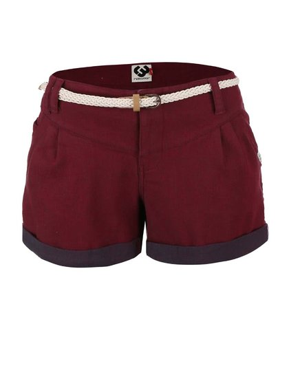Pantaloni scurți vișinii Ragwear Heaven cu curea
