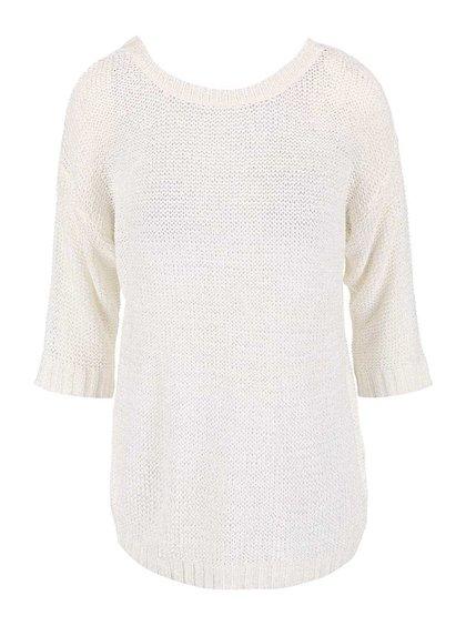 Krémový sveter s 3/4 rukávmi VILA Pray