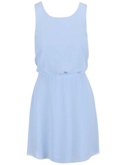Světle modré šaty s krajkou na zádech VILA Kono