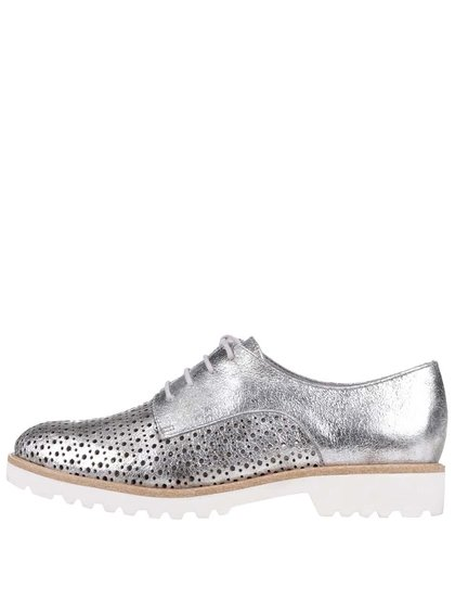 Pantofi Derbie Tamaris argintii